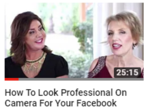 How To Look Professional On Camera For Your Facebook Live Video – Mari Smith & Melissa Murray